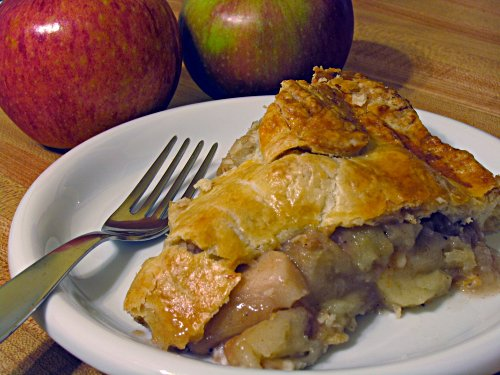 A slice of Tom's homemade apple pie