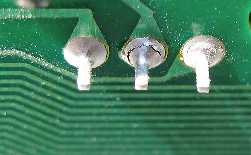 Failing solder joints